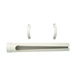 Polyplumb Boiler Overflow Pipe Guard with 2 Pipe Clips BOPG50