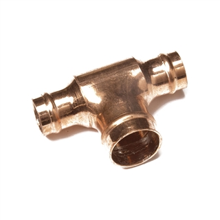 Solder Ring Fitting Reduced Tee 28mm x 28mm x 22mm