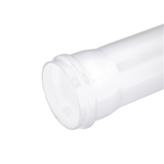 Polypipe Soil & Vent 110mm 4m Single Socket Pipe White SP440