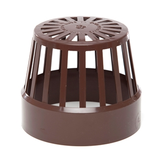 Polypipe Soil & Vent 110mm Vent Terminal (Balloon Guard) Brown SV42