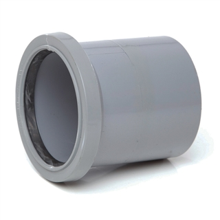 Polypipe Soil & Vent 82mm Single Socket Grey SH33