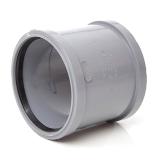 Polypipe Soil & Vent 82mm Double Socket Grey SH34