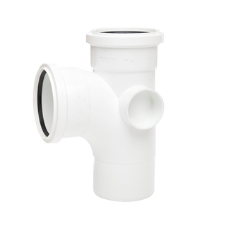 Polypipe Soil & Vent 110mm 92½° Single Branch White ST401