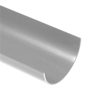 Polypipe Half Round Rainwater 112mm 4m Gutter Grey RR101