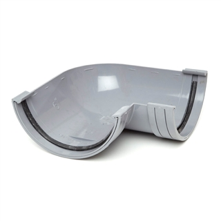 Polypipe Half Round Rainwater 150mm Gutter Angle 90° Grey RL603