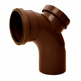 Polypipe Soil & Vent 110mm 92½° Single Socket Access Bend Brown SB413