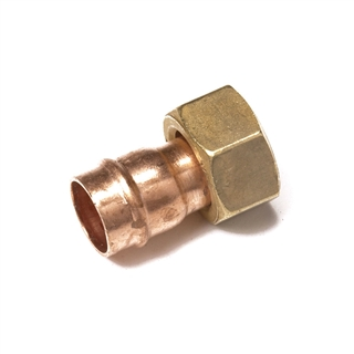 """Solder Ring Fitting Straight Tap Connector 15mm x ¾"""""""