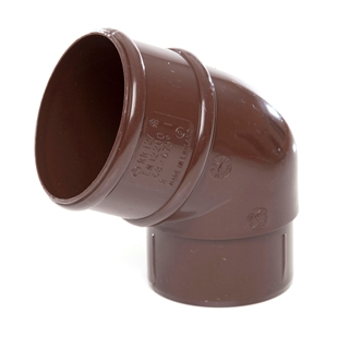 Polypipe Rainwater Round Pipe 68mm 112½° Bend Brown RR127