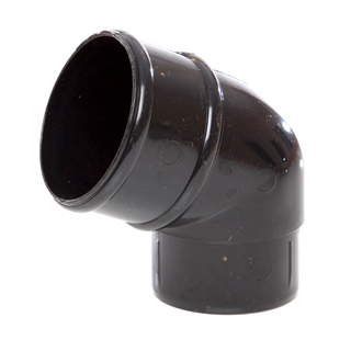 Polypipe Rainwater Round Pipe 68mm 112½° Bend Black RR127
