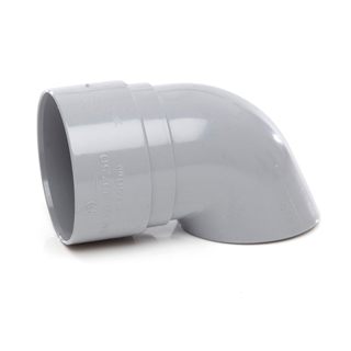 Polypipe Rainwater Round Pipe 50mm Shoe Grey RM328