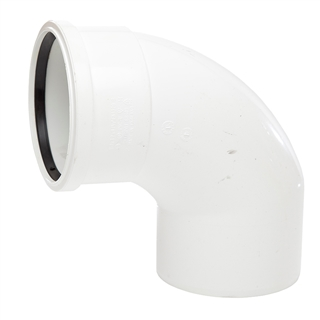 Polypipe Soil & Vent 110mm 92½° Single Socket Bend White SB409
