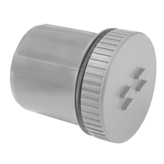 Polypipe Soil & Vent 82mm Spigot Tail Access Plug Grey SA52