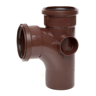 Polypipe Soil & Vent 110mm 92½° Single Branch Brown ST401