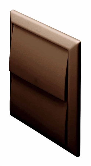 Domus Wall Outlet with Gravity Flaps Brown