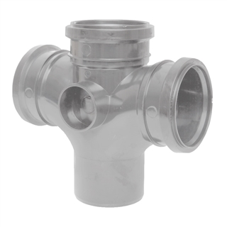 Polypipe Soil & Vent 110mm 92½° Double Branch Grey SU420