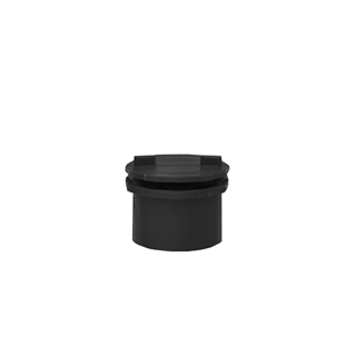 Polypipe Push-Fit Waste 40mm Screwed Access Plug Black WP44