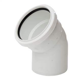 Polypipe Soil & Vent 110mm 135° Single Socket Bend White SB412