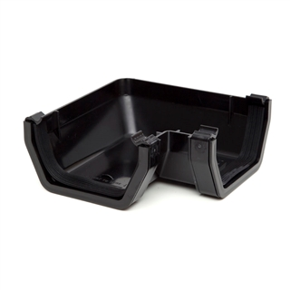 Polypipe Square Rainwater 112mm Gutter 90° Angle Black RS203