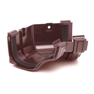 Polypipe Ogee Gutter 130mm x 70mm Internal Angle 135° Brown ROG14