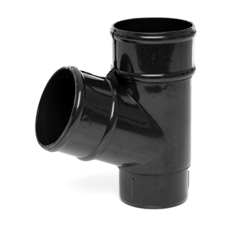 Polypipe Rainwater Round Pipe 68mm 112½° Branch Black RR129