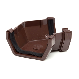 Polypipe Square Rainwater 112mm Gutter 135° Angle Brown RS204