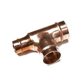 Solder Ring Fitting Reduced Tee 22mm x 15mm x 22mm