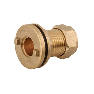 Compression Fitting Straight Tank Connector 15mm