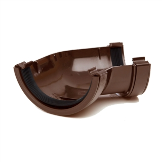 Polypipe Half Round Rainwater 112mm Gutter Angle 135° Brown RR104