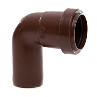 Polypipe Push-Fit Waste 32mm 91¼° Swivel Bend Brown WP23