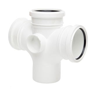 Polypipe Soil & Vent 110mm 92½° Double Branch White SU420