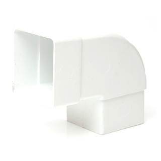 Polypipe Square Rainwater 65mm 92½° Offset Bend White RS232