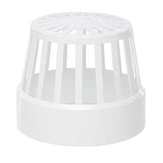 Polypipe Soil & Vent 110mm Vent Terminal (Balloon Guard) White SV42