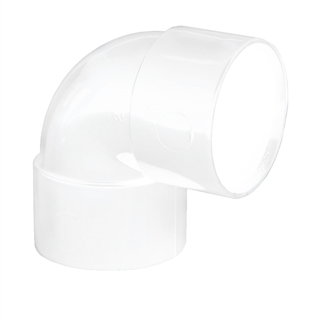 Polypipe Solvent Weld Waste 32mm 90° Knuckle Bend White WS15