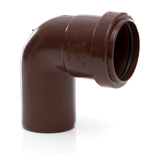 Polypipe Push-Fit Waste 40mm 91¼° Swivel Bend Brown WP24