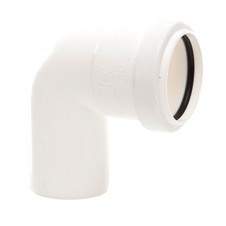 Polypipe Push-Fit Waste 40mm 91¼° Swivel Bend White WP24