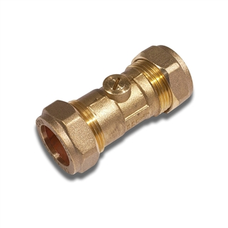 22mm Compression Chrome Plated Isolating Valve