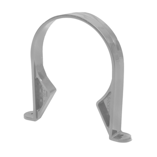 Polypipe Soil & Vent 110mm Pipe Clip (Saddle) Grey SC43