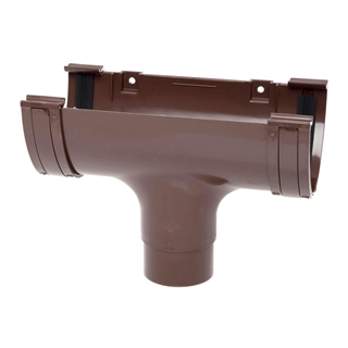 Polypipe Deep Capacity Gutter Running Outlet Brown RD505