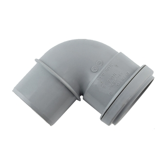 Polypipe Push-Fit Waste 50mm 91¼° Bend Grey MAN8