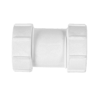 Polypipe Universal Compression Waste 32mm Straight Connector White PS32