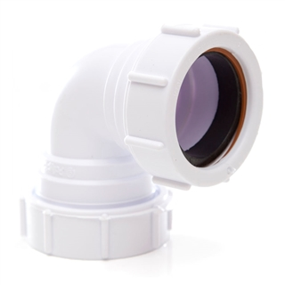 Polypipe Universal Compression Waste 32mm 90° Knuckle Bend White PS15