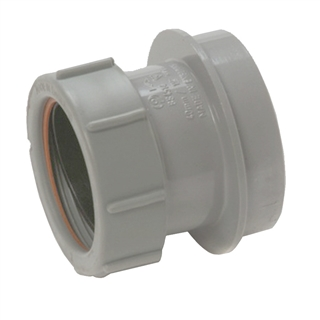 Polypipe Soil & Vent 110mm Straight Adapter 32mm Grey SN63