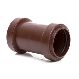 Polypipe Push-Fit Waste 32mm Straight Coupling Brown WP25