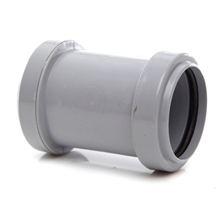Polypipe Push-Fit Waste 40mm Straight Coupling Grey WP26