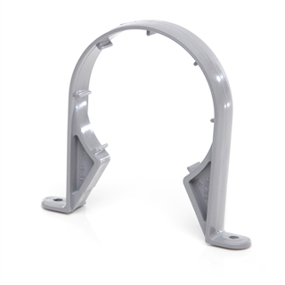 Polypipe Soil & Vent 82mm Pipe Clip (Saddle) Grey SC33