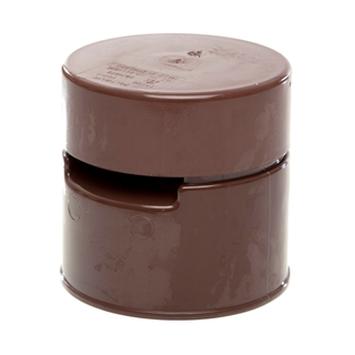 Polypipe Soil & Vent 110mm Air Admittance Polyvalve Brown SPV110