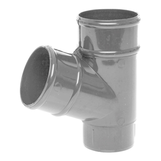 Polypipe Rainwater Round Pipe 68mm 112½° Branch Grey RR129