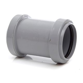 Polypipe Push-Fit Waste 50mm Straight Coupling Grey WP58