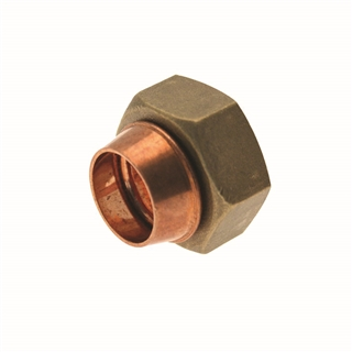 """Solder Ring Fitting Straight Cylinder Union 22mm x 1"""""""