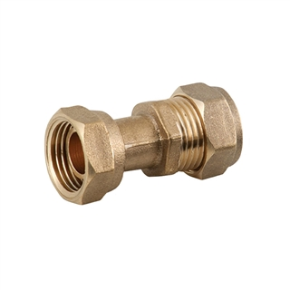 """Compression Fitting Straight Tap Connector 15mm x ½"""""""